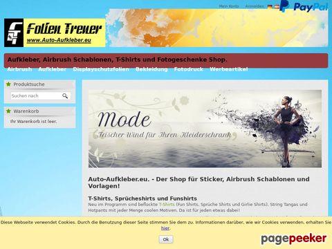 Folien Treuer - Autoaufkleber - Airbrush Schablonen