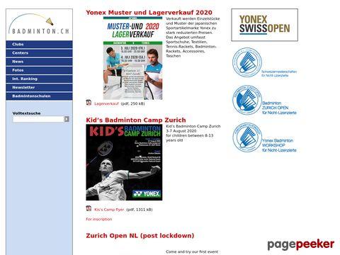 badminton.ch - News aus der Schweizer Badmintonszene