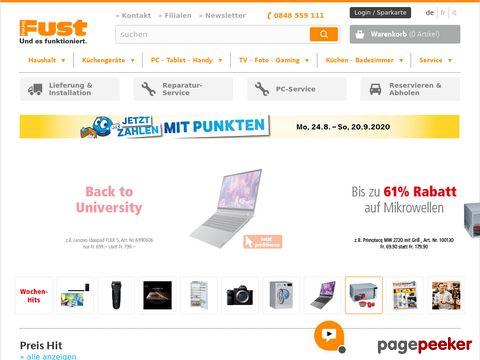 fust.ch - Der Fachmarkt mit Online Shop für Elektro - Haushaltgeräte