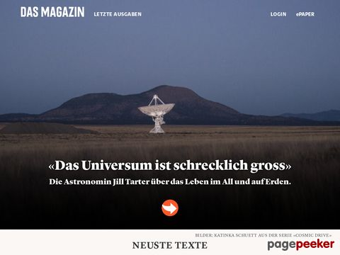 Das Magazin  - Online-Version von «Das Magazin»