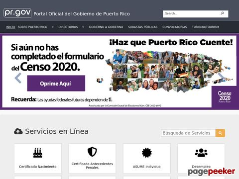 Inicio - Offizielle Seite der puerto-ricanischen Regierung