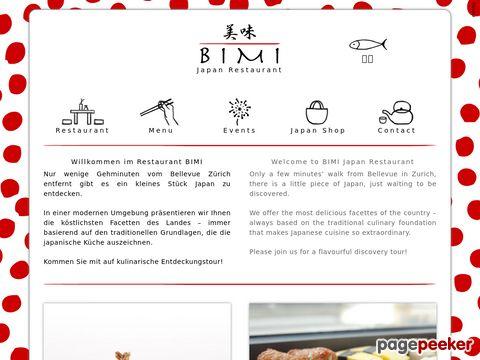 Japan Restaurant Bimi in 8008 Zürich Seefeld, Japanische Spezialitäten