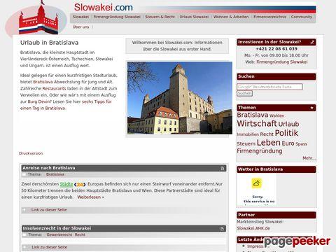 slowakei.com - Slowakei (Slowakische Republik) - Portal