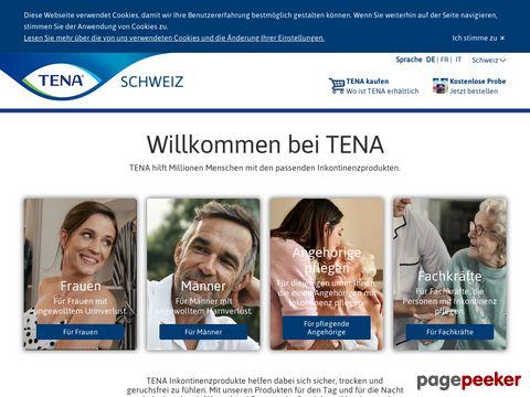 Tena.ch - Inkontinenzartikel und Informationen