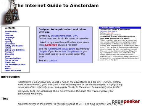 The Internet Guide to Amsterdam