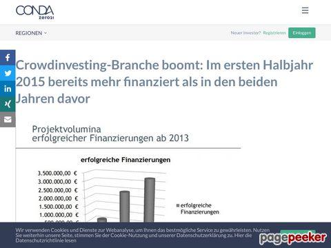 Crowdinvesting auf CONDA | CONDA Deutschland