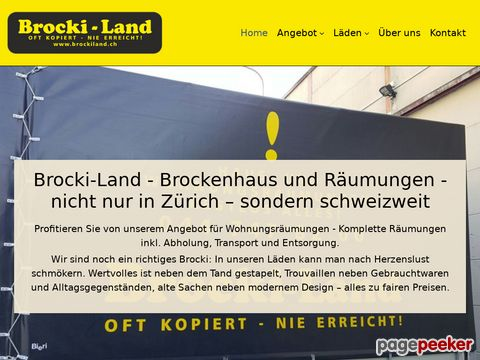 Brocki-Land in Zuerich & Dietikon