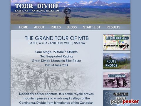 Tour Divide - BANFF, AB - ANTELOPE WELLS, NM (Banff, Kanada)