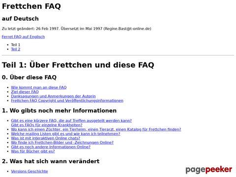 Frettchen FAQ