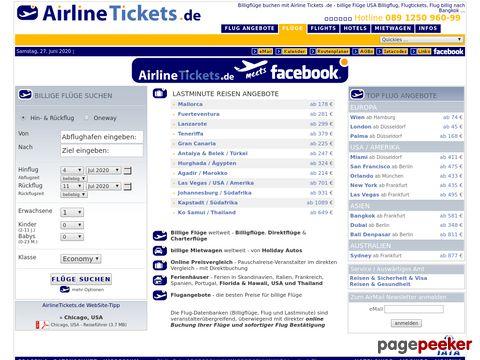 Airline Tickets .de - Flüge online buchen