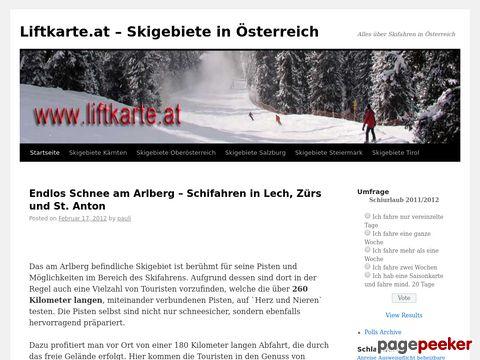 Liftkarte.at - Schigebiete in Österreich