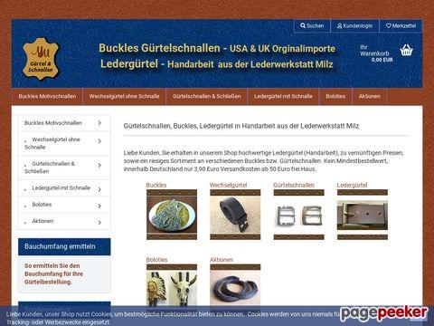 guertelschnallen.com - Handgefertigte, robuste Ledergürtel nach Mass