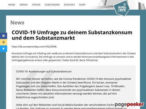 Eve & Rave Schweiz - szenenahe Organisation für einen risikobewussten und selbstverantwortlichen Umgang mit Drogen