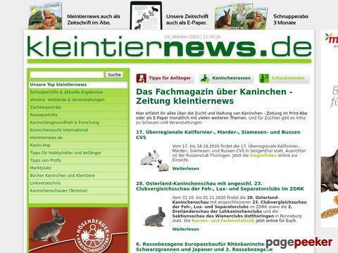 kleintiernews.de - Kaninchen Zwergkaninchen Meerschweinchen - kleintiernews.de