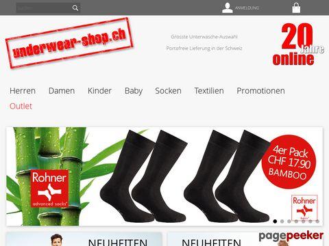 underwear-shop.ch - Marken-Underwear Online Shop mit riesen Auswahl