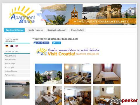 Kroatien, Ferienwohnung Marina in Mitteldalmatien