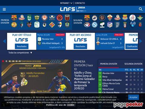 lnfs.es - Liga Nacional Fútbol Sala - División de Honor de Fútbol Sala