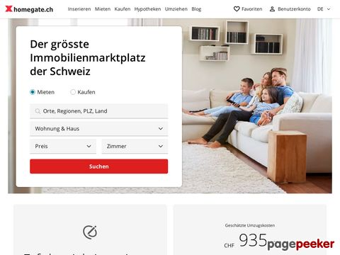 homegate.ch - Immobilien, Wohnung, Wohnungen oder Haus suchen und finden.
