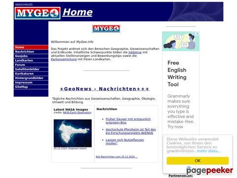 MyGeo - das Portal zu Geographie
