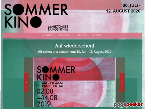 sommerkino.ch - Open - Air Kino in Langenthal