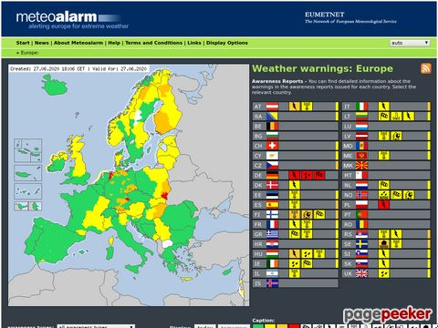 Meteoalarm - Alerting Europe for extreme Weather