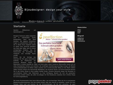 bijoudesigner.ch - Kreiere deine individuelle Halskette oder Armband aus verschiedenen Materialien online