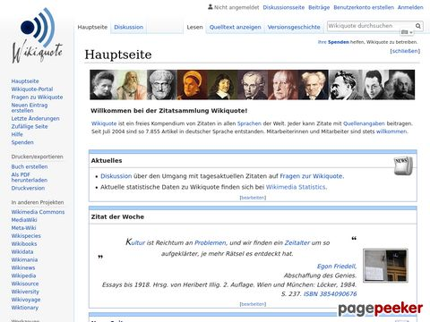 Wikiquote - Die Zitate-Datenbank