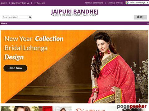 jaipuribandhej.com - Weeding Sarees by Bhagyoday Fashions