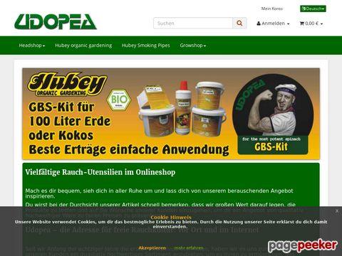 udopea.de - Headshop mit weltweitem Versand