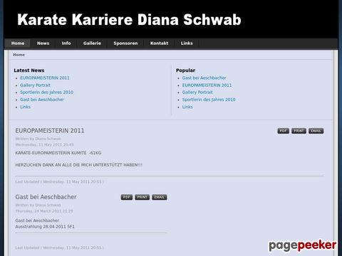 karatediana.ch - Diana Schwab - mehrfache Karate Schweizermeisterin