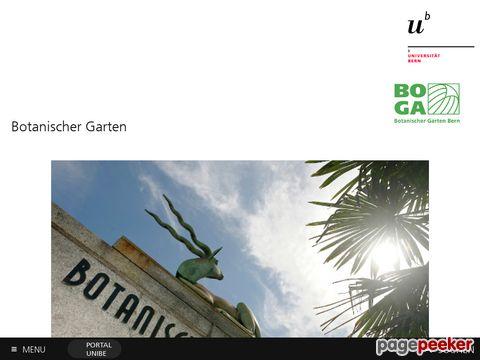 BOGA :: Botanischer Garten Bern