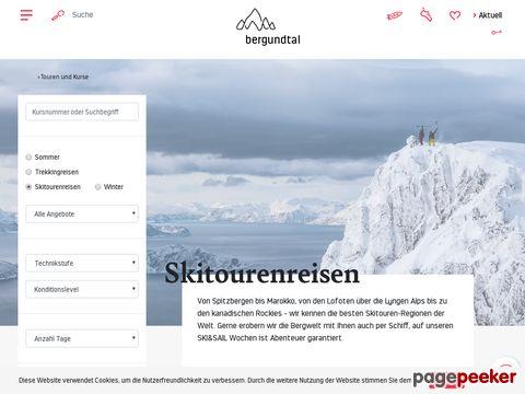 bergundtal.ch - Skitouren Kurse und Touren für Einsteiger und Fortgeschrittene