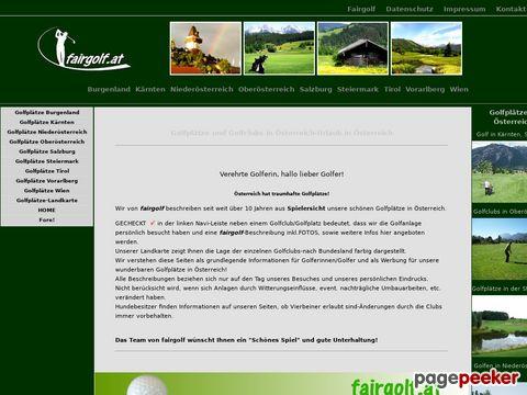fairgolf.at - fair-golf Beschreibungen der Golfplätze in Österreich