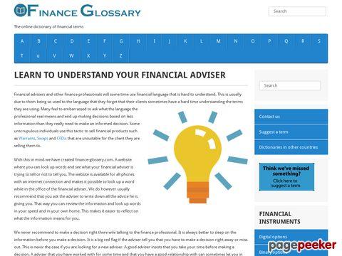 finance-glossary.com - Finance Glossary
