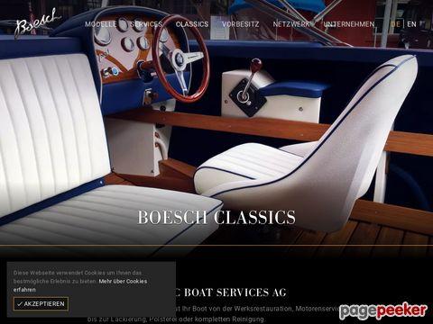 Classic Boats .ch - Occasionen und Reparaturen und Restaurationen von Holzbooten