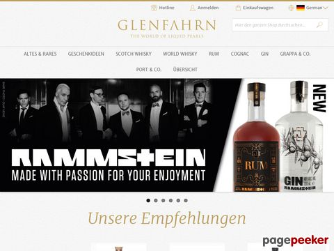 GlenFahrn.ch - The World of liquid Pearls - Whisky - Whiskey - Whiskies