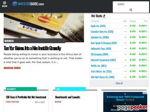 investorguide.com - financial and investing news