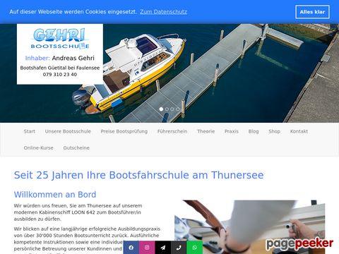 bootsschule.ch - Schiffsführerausweis und Schiffstheoriekurs - Staub + Gehri