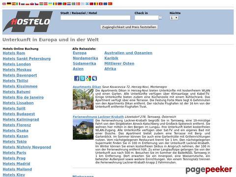 hostelo.ch - Unterkunft in Europa