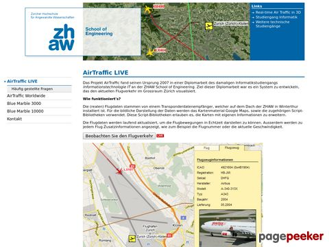 AIR TRAFFIC - Der Schweizer Flugverkehr in Echtzeit