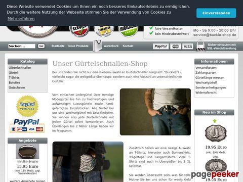 buckle-shop.com - Buckle-Shop - Buckles & Belts / Gürtelschnallen & Gürtel