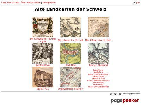 Historische Landkartensammlung der Schweiz