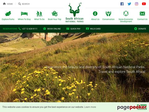 South Africa National Parks - SANParks - Official Website - Accommodation, Activities, Prices, Reservations