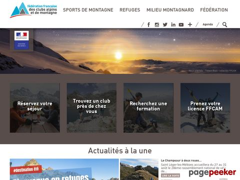 ffcam.fr - Fédération française des clubs alpins et de montagne FFACM (Französischer Alpenverein)