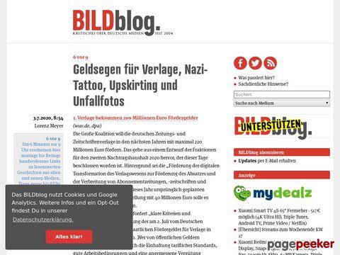 BildBlog.de - Erfahren Sie die Wahrheit über die Bild-Artikel