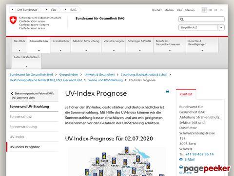 Schweizer UV-Index