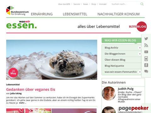was-wir-essen.de - Ernährungsinfos - Lebensmittelinfos etc...