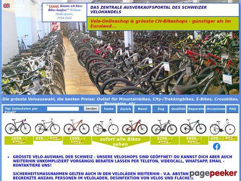velomaerkte.ch - Velos Basel und Velo Zürich : Grösste CH Velo Auswahl, Velomarkt Bike Ausverkauf von 20 Top-Velomarken, Velobörse Basel für Bike Occasionen
