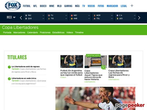 Copa Libertadores at FOX Sports on MSN