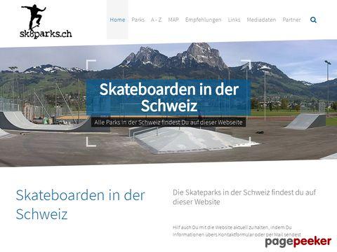 Skateparks, Skatehallen, Ramps und Bowls der Schweiz